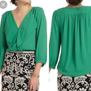 MAEVE For ANTHROPOLOGIE  Cute Green Blouse Sz 8